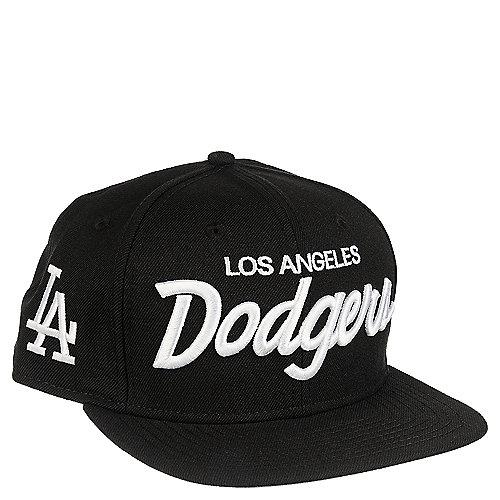 New Era LA Dodgers Men s Black Snapback Hat  77cd3a9cad15