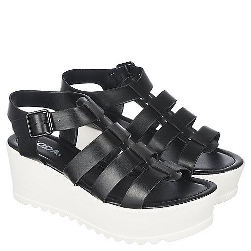 1e1f5f910f0 Soda Black White Women s Enya-H Platform Sandal