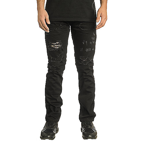 Smoke Rise Original Vintage Denim Men's Black Jeans | Shiekh Shoes