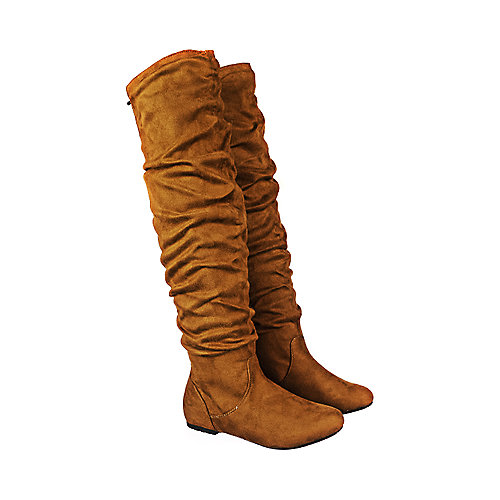 97a2e3ad9ac Tan Suede Women s Vickie HI Knee-High Pocket Boot