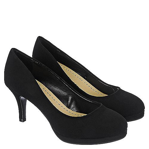 shiekh h s black low heel dress shoe shiekh shoes