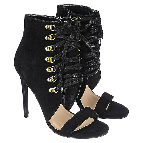 shiekh character s black high heel ankle boot