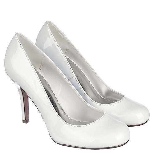 Paprika Class-H Women s White Low Heel Dress Shoes  547a3be89