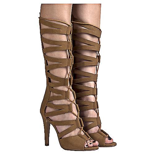 Tan Women's Toner-S Gladiator Heel at Shiekh Shoes in Los Angeles, CA | Tuggl
