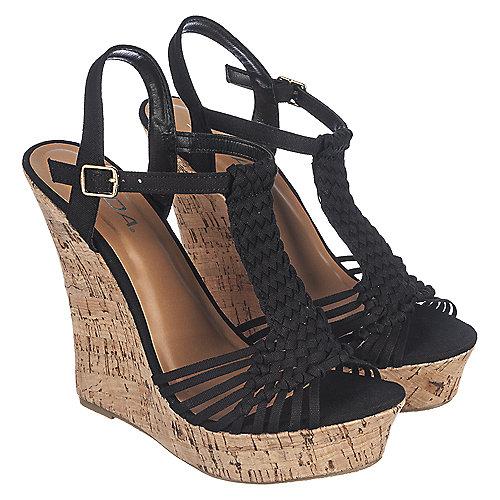 b97c81b651b Soda Minute-S Women s Black High Heel Wedge Dress Shoe