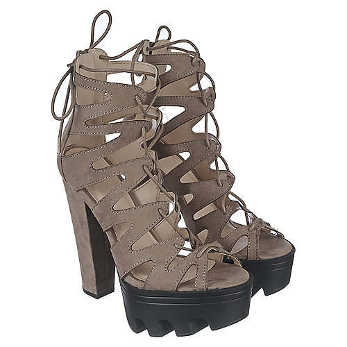 Taupe Women's Vive-64 Strappy Sandal at Shiekh Shoes in Los Angeles, CA | Tuggl