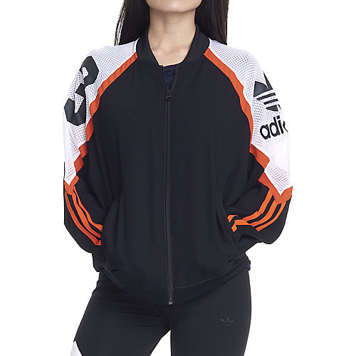 ddf01eae0cb3 adidas. BLACK White Orange Women s Basketball Track Jacket