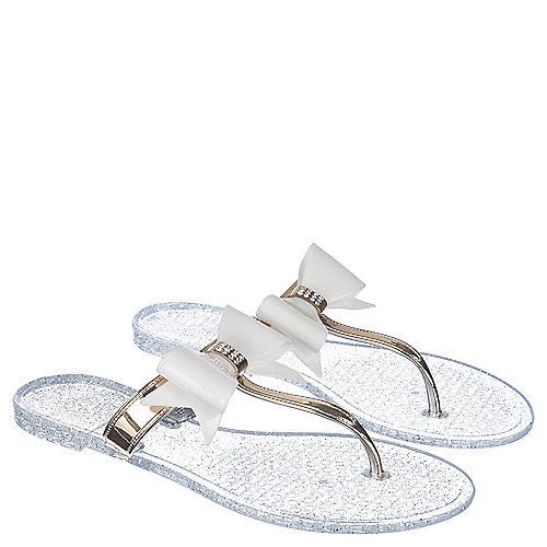 4f49bf8bc Wild Diva Joanie-41 Women s Clear Thong Flip Flop Sandal