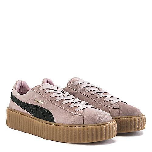 a2afd55f334 Puma Coral Cloud Pink Green Women s Casual Sneaker Rihanna Suede Creepers