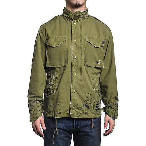 Mens Button Down Jacket Pow Olive Shiekh Shoes
