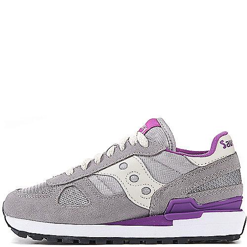 8a68a42dc1a5 Saucony LIGHT GREY PURPLE Women s Shadow Original Athletic Running Sneaker