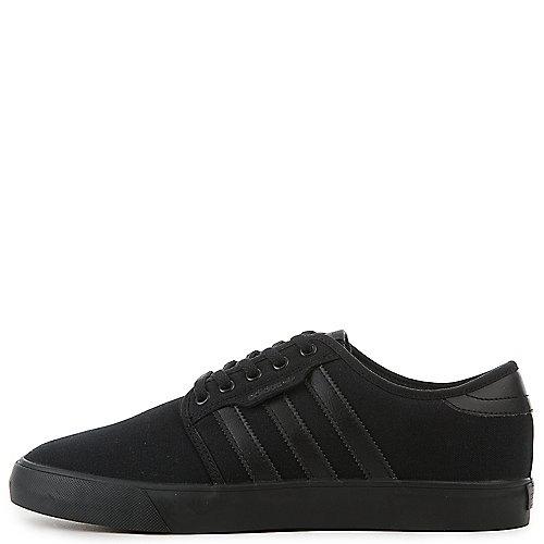 a09e46659e37 adidas Seeley Mens Black and White Lifestyle Skateboarding Shoe ...