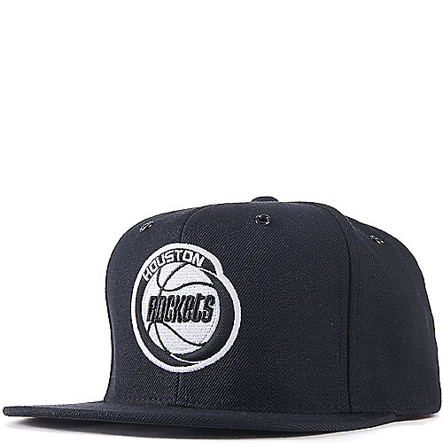 Houston Rockets Mitchell And Ness: Houston Rockets Black Fitted Cap