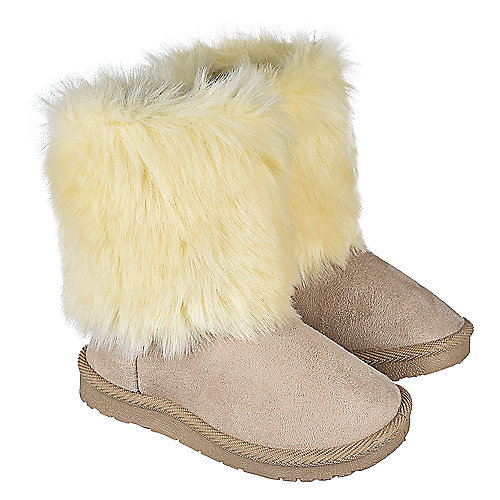Shiekh Kid's Fur Suede Boot 238
