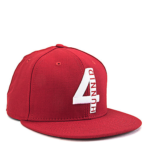 Red White Men s 4 Hunnid Snapback 59172a6f8bc