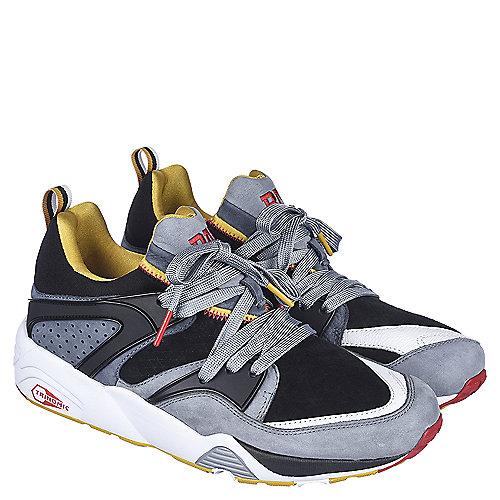 aa0345606 Puma Black Grey White Yellow Men s Blaze of Glory BAU Casual Sneaker