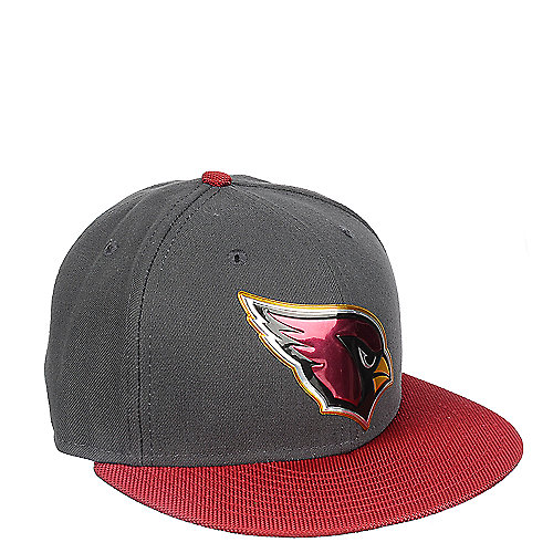arizona cardinals grey fitted cap shiekh shoes. Black Bedroom Furniture Sets. Home Design Ideas