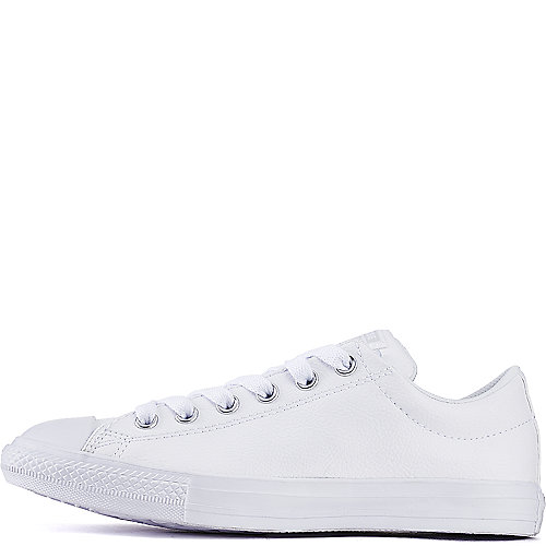 7f1cb86e3b4a Converse White Junior s Chuck Taylor Street Ox Leather Casual Shoe