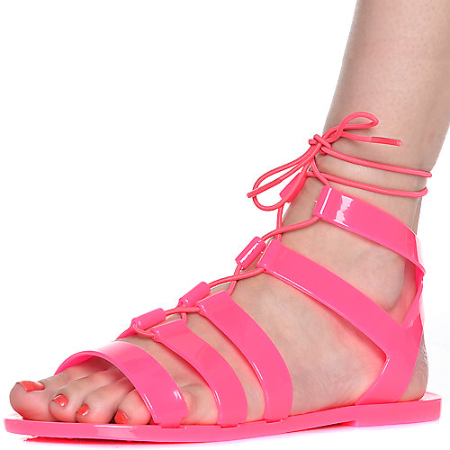 FUCHSIA Women's Avenue-S Lace-up Sandal at Shiekh Shoes in Los Angeles, CA | Tuggl