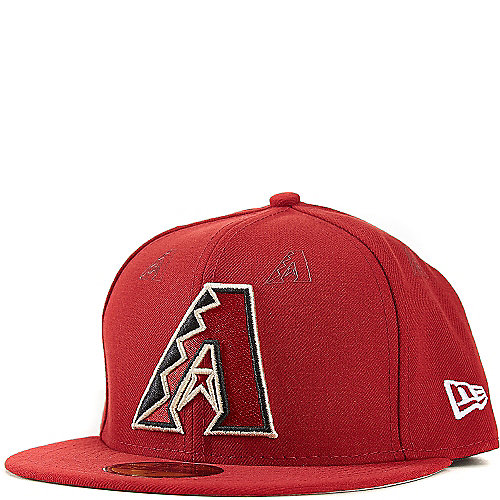 Arizona Diamondbacks Fitted Hat Dark Red New Era 59FIFTY With Rubber Team  Logo Decals cd53d7bd7e8