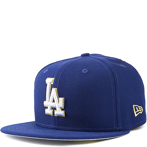 36cb4454cc647 New Era LA Dodgers Men s Blue Fitted Cap