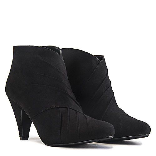 49728daeb6 Women's Twin-H Ankle Low Heel Ankle Boot Black | Shiekh Shoes