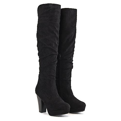 8a181ad9a66 Bamboo BLACK Women s Huxley-13 Knee-High Boot