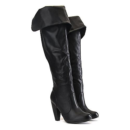 f89c07918ca Bamboo BLACK Women s Mozza-12 Knee-High Boot