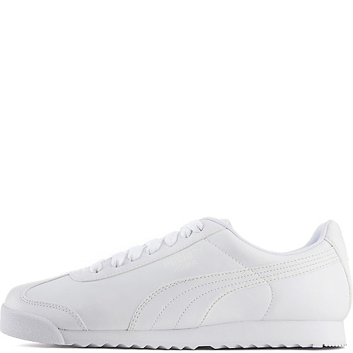 89c9141aedd5 Puma White Light Grey Men s Casual Lace-Up Sneaker Roma Basic