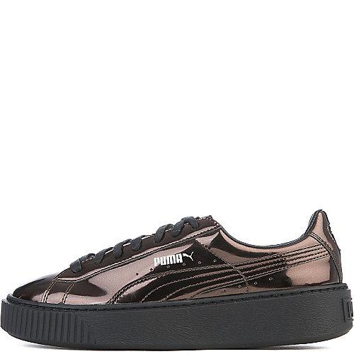 4e8194e08221 Black Bronze Women s Basket Platform Metallic Casual Sneaker