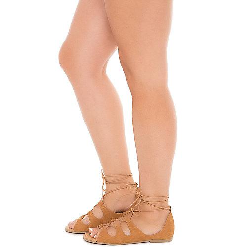 Tan Women's Boxing-S Lace-Up Sandal | Tuggl