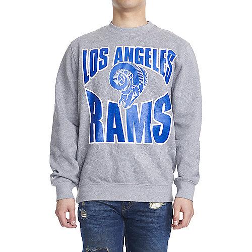 Men's Los Angeles Rams Crewneck Sweater Grey   Shiekh Shoes
