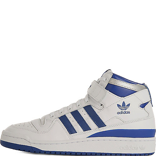14095e757b61c3 adidas. White Blue Men s Forum Mid Refined Athletic Lifestyle Sneaker