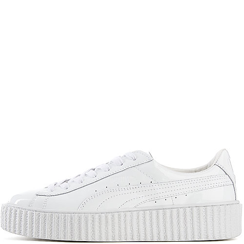 9a3532edffef Puma White Women s Rihanna Satin Creepers Casual Sneaker