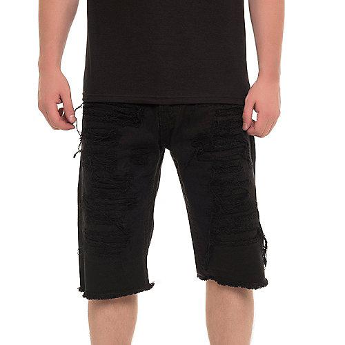 Menu0026#39;s Ripped Denim Shorts | Shiekh Shoes
