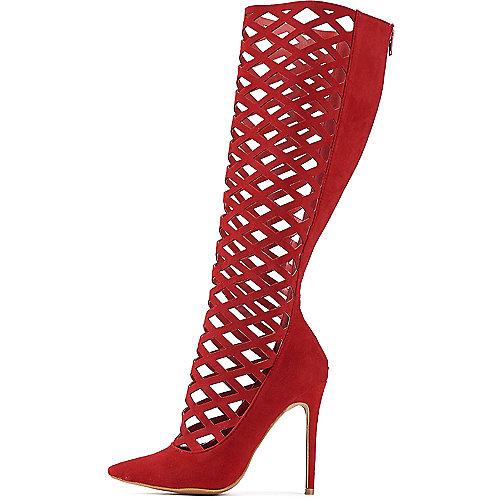 Women's Hailey Gladiator Heel Red | Shiekh Shoes