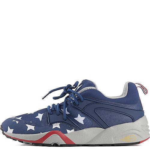 be116b42124 Puma Red White Blue Men s Blaze of Glory BAU Casual Sneaker