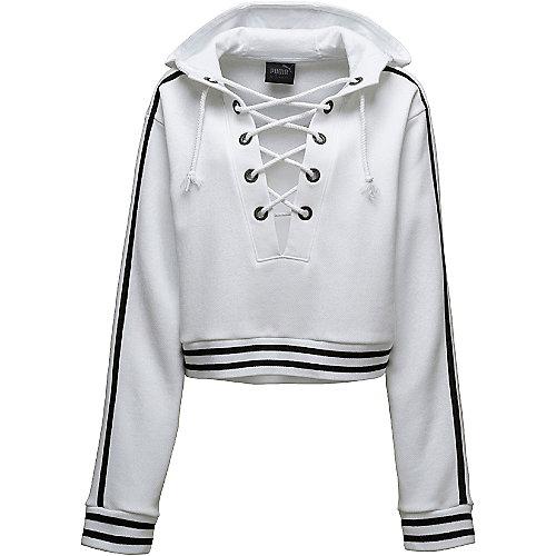 7a71e01b72b Puma White Women s Rising Sun Lacing Sweatshirt