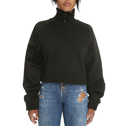 Women's Fenty Cropped Neck Zip Pullover Sweater | Shiekh Shoes