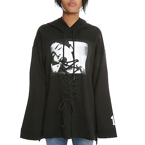 8b33c5974ee Black Women s Rihanna Graphic Hoodie