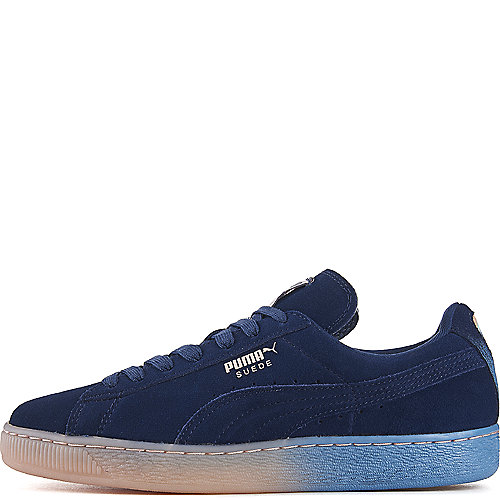 f457f76bd1c Puma Navy Pink Men s Pink Dolphin Suede Classic Casual Sneaker