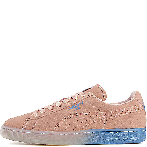 2a68f5e64f1 Puma Pink Men s Pink Dolphin Suede Classic Casual Sneaker