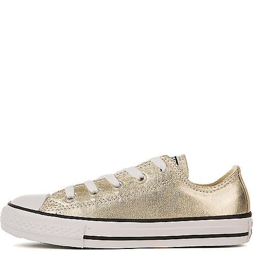 9580aa07f231 Converse Gold Metallic Kids Chuck Taylor All Star Ox Casual Sneaker
