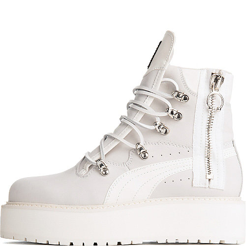 39e9a7c7195a20 Puma White Rihanna Sneaker Wedge Ankle Boot