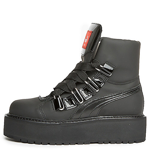 7a7c3af34c08 Puma Black Women s SB Black eyelet Rihanna Platform Sneaker