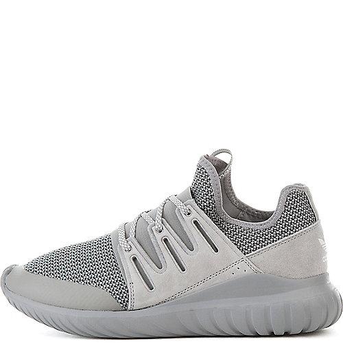 low priced 7baa9 fb685 adidas. Grey White Men s Tubular Radial Athletic Running Sneaker