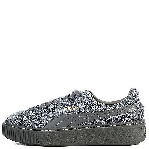 9d626aadaa9 Puma Grey Women s Suede Platform Elemental Casual Sneaker