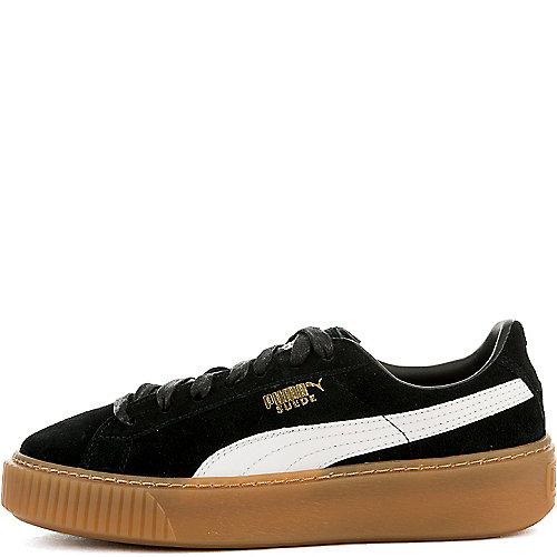 2d3c92689c5006 BLACK GUM Women s Suede Platform Sneaker