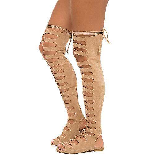 Nude Women's Jovena-1 Gladiator Lace-Up Sandal at Shiekh Shoes in Los Angeles, CA | Tuggl