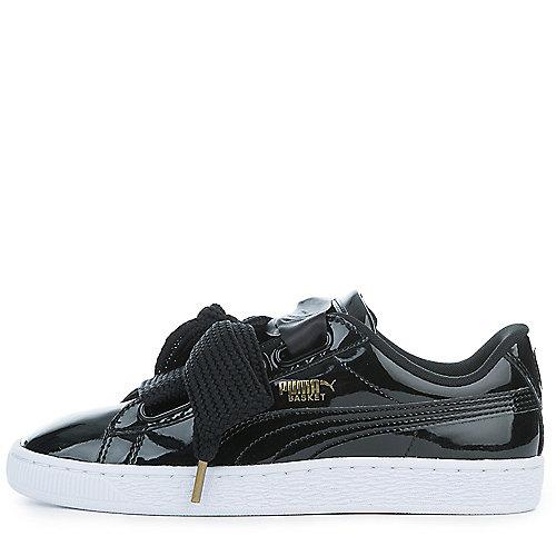 96f9e0bae7c PUMA BLACK-PUMA BLACK Women s Basket Heart Patent Sneaker